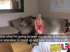 Fake Agent UK Blonde bombshell swallows
