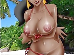 Disney's Jasmine in a bikini via Cartoon Valley