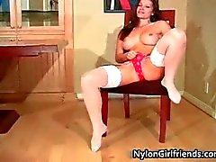Gorgeous brunette hottie Heather