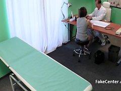 Doctor fucks teen slut in hospital office