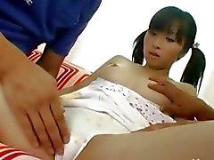Hårig skolflicka från Korean knullad