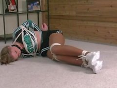 Cheerleader Bound and Gagged