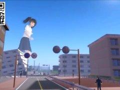 Giant School Girls Appear