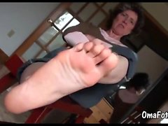 Grany's foot, old mature's foot compilation