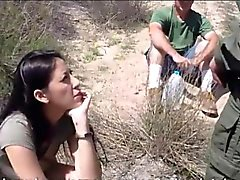 Hot latin babe Kimberly gates fucked by border patrol agent