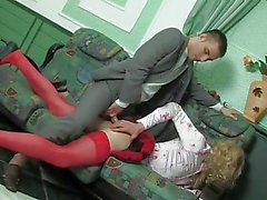 Crossdresser maid gets anal from her master