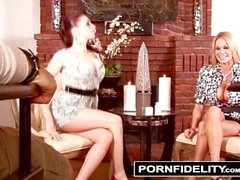 PORNFIDELITY - Gianna and Kelly Share Their Breast Kept Secret