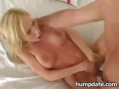 Hillary gets jammed and stretched by huge rod