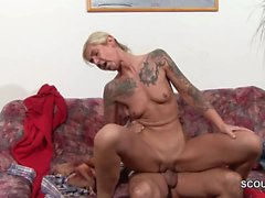 Daddy Seduce Petite German Step-Daughter to Fuck