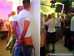 Gloryhole party goes hardcore in an instant