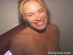 Pretty Blonde Amateur Girl Starts Sucking Dick At Glory Hole