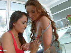 BF (dont) matters by Sapphic Erotica lesbian love porn with Aida Sweet Julie Skyhigh