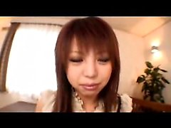 Buxom Oriental beauty has a guy rubbing and vibrating her h