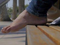 Beautiful Latina Foot Model Beach