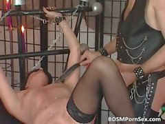 Kinky couple enjoys in BDSM play where part2