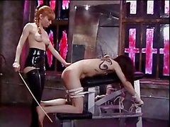 Misstress Lolita spanking her slaves ass