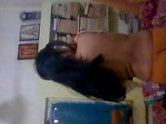 Desi College Girl Goes Nude Striping her Clot