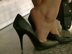 shoeplay in classic heels compilation