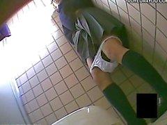 Gizli bir Toilet fotoğraf makinesi Röntgenci Kız Masturbasyon