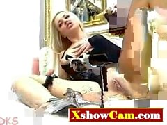 Blonde Babe with Toys - Xshowcam