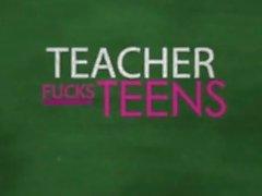 Big cock for tiny blonde schoolgirl and lucky teacher