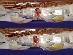 VR BANGERS Jackie Wood striptease and masturbate yoga teas