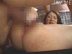 Titty Japanese Babe Gets Fucked In Gang Bang