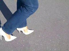 13cm High Heels Pumps - Jeans und Nylons