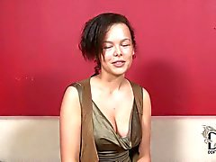 Casting girl Linet with puffy nipples