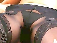 Black pants and super panties