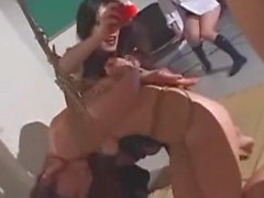 Asian Teens Tied Waxed And Whipped