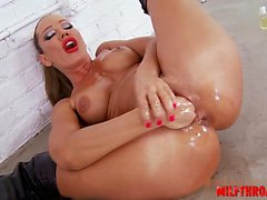 Sexy girl blonde anal