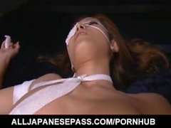 Mei Haruka in bandages is aroused with vibrator more and more