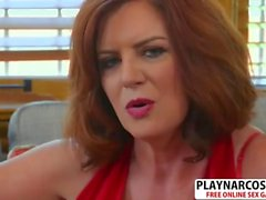 Mature Mother Andi James Gives Titjob Good Touching Friend