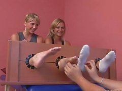 Two schoolgirls gets tickled (Denisa & Katarina)