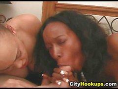Two Ebony Babes Suck Cock So Good POV