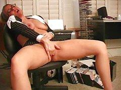Horny Secretary masturbates