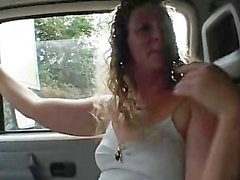 Chubby Broad In Car