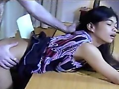 Filipino Amateur Helen Bent Over Desk Fucked Hard And Spank