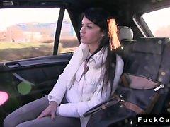 Külot içinde Blonde fake taksiyle fucked