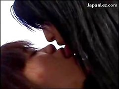 Asian Schoolgirl Kissing Passionately Getting Her Body Rubbed On The Bed