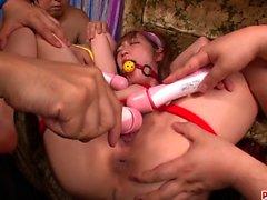 Sana Anzyu amazing bondage and extreme sex