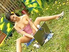 Having Fun In The Backyard