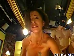 Babe sprayed with a big load of man juice