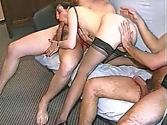 French Amateur Mature GangBang