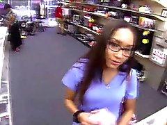 Nurse sells smelly panties at a pawnshop