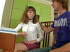 teens sex on the kitchen table