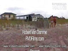 Bodybuilders fuck on Beach-Robert van Damme