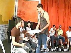 Indoor gay gangbang foda fest