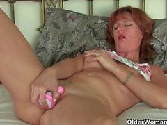 British mom plays with sex toys